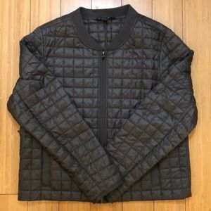 Athleta Quilted Olive Green Light Jacket